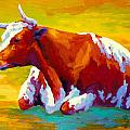 Longhorn Cow Poster by Marion Rose