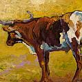 Longhorn Study Poster by Marion Rose