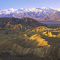 Looking At Panamint Range Print by Tim Fitzharris