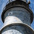 Looking Up Portland Head Light Poster by Dominic White