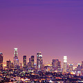 Los Angeles At Dusk Poster by dj murdok photos