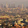 Los Angeles Skyline Print by Photo by Seattle Dredge