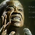 Louis Armstrong Wonderful World Print by Yury Malkov