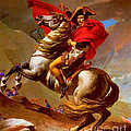 LOUIS NAPOLEON AT THE ST BERNARD PASS Print by PG REPRODUCTIONS