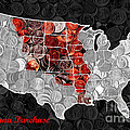 Louisiana Purchase Coin Map . v1 Print by Wingsdomain Art and Photography