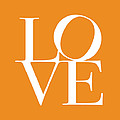 Love in Orange Print by Michael Tompsett
