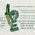Love is  Poster by Judy Dodds