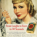 LUCKYS CIGARETTE AD, 1938 by Granger
