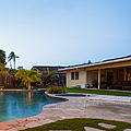 Luxury Backyard Pool and Lanai Poster by Inti St. Clair