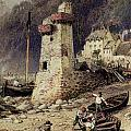 Lynmouth in Devonshire Print by Myles Birket Foster
