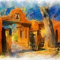 Mabel's Gate watercolor Poster by Charles Muhle