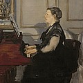 Madame Manet at the Piano Print by Edouard Manet