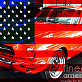 Made In The USA . Ford Mustang Poster by Wingsdomain Art and Photography