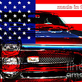 Made In The USA . Pontiac GTO Print by Wingsdomain Art and Photography