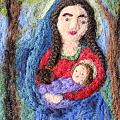 Madonna and Child Print by Nicole Besack