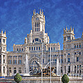 Madrid City Hall Poster by Joan Carroll