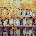 Madrid Facade In Late Autumn Poster by Julia Davila-Lampe