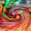 Magical Energy Print by Linda Sannuti