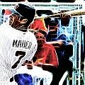 Magical Joe Mauer Print by Paul Van Scott