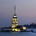 Maiden's Tower  At Sunset Poster by Ayhan Altun