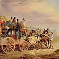 Mail Coaches on the Road - The 'Quicksilver'  Print by Charles Cooper Henderson