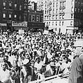Malcolm X, Speaking To An Outdoor Rally Print by Everett