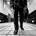 Man With Briefcase Poster by Giuseppe Cristiano