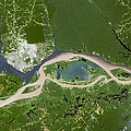 Manaus, Satellite Image Print by Planetobserver