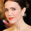 Mandy Moore Wearing Chopard Earrings Poster by Everett