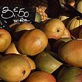 Mangoes And Melons Priced In Euros Poster by David Evans