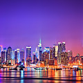 Manhattan Lights Poster by Matthias Haker Photography