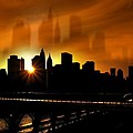 Manhattan Silhouette Poster by Svetlana Sewell