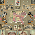MAP: CONFEDERATE STATES Poster by Granger