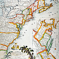 MAP OF AMERICA, 1779 Poster by Granger