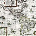 Map of the Americas Poster by Henricus Hondius