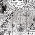 Map of the Coast of New England Print by Simon de Passe