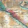 Map Of The West Coast Of Africa Print by Everett