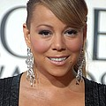 Mariah Carey Wearing Chopard Earrings Print by Everett