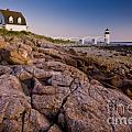 Marshal Point Light Sunset Poster by Susan Cole Kelly