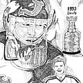 Martin Brodeur Sports Portrait Poster by Marty Rice