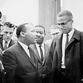 Martin Luther King Jr., And Malcolm X Poster by Everett