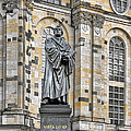 Martin Luther Monument Dresden Poster by Christine Till