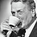 Mature Man Drinking Cup Of Coffee Poster by George Marks