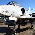 McDonnell Douglas TA-4J Skyhawk Aircraft Fighter Plane . 7D11303 Print by Wingsdomain Art and Photography