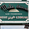 Mel's Drive-in Diner Sign in San Francisco - 5D18015 Print by Wingsdomain Art and Photography