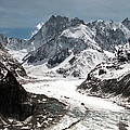 Mer de Glace - Mont Blanc Glacier Poster by Frank Tschakert