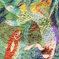 Mermaid and Fish Poster by Nicole Besack