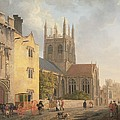 Merton College - Oxford Poster by Michael Rooker