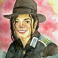 Michael Jackson - A Bright Smile Shining in The Sky Poster by Nicole Wang