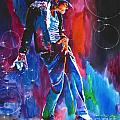 Michael Jackson Action Print by David Lloyd Glover